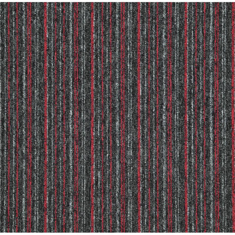 Kobercový čtverec Sonar Lines 4520 červenočerný
