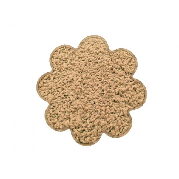 Vopi koberce Kusový koberec Color shaggy béžový kytka, 120x120 cm% Béžová - Vrácení do 1 roku ZDARMA vč. dopravy + možnost zaslání vzorku zdarma