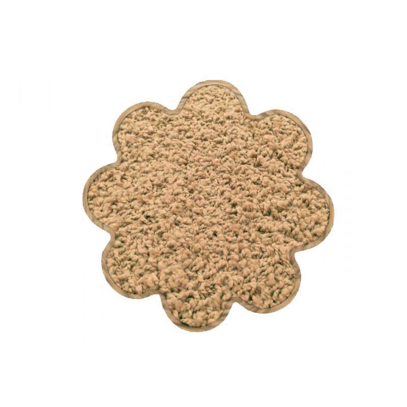 Kusový koberec Color shaggy béžový kytka