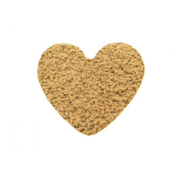 Kusový koberec Color shaggy béžový srdce