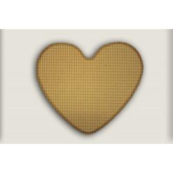 Kusový koberec Birmingham béžový srdce