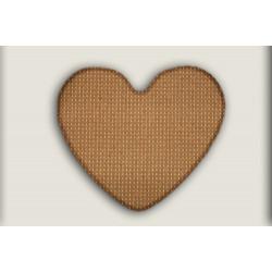 Kusový koberec Birmingham hnědý srdce