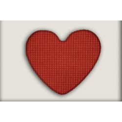 Kusový koberec Birmingham vínový srdce