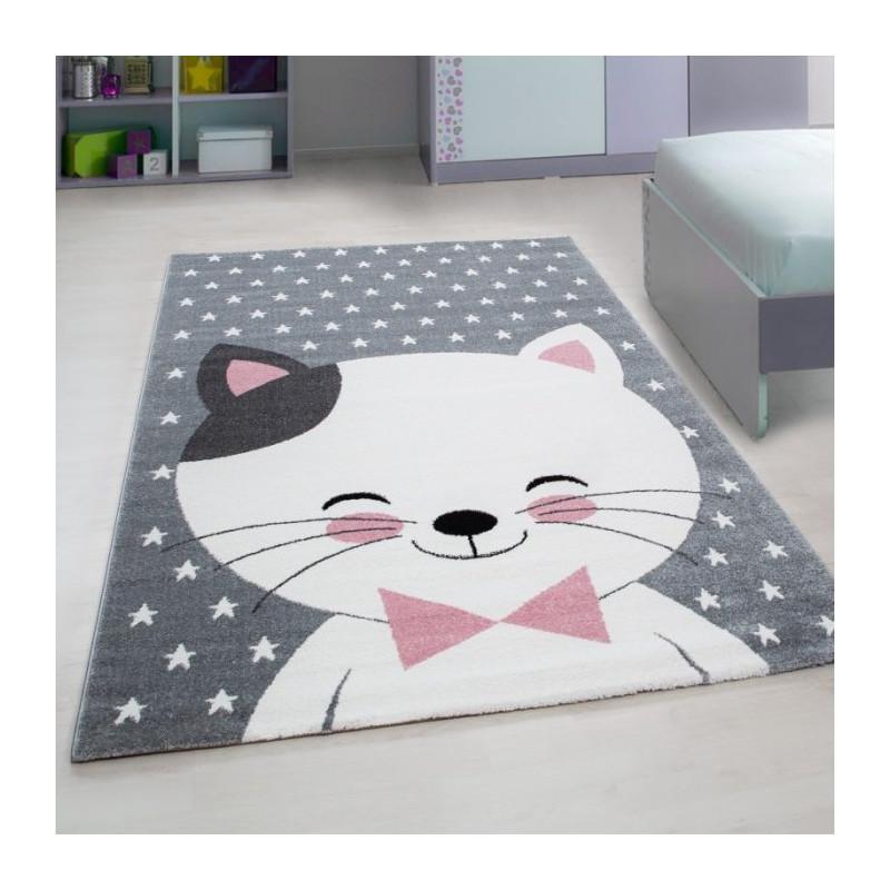 Dětský kusový koberec Kids 550 pink