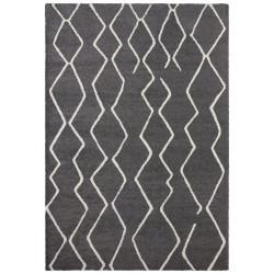 Kusový koberec Glow 103658 Dark Grey/Cream z kolekce Elle