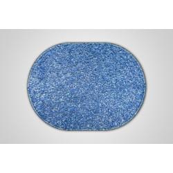 Kusový světle modrý koberec Eton ovál