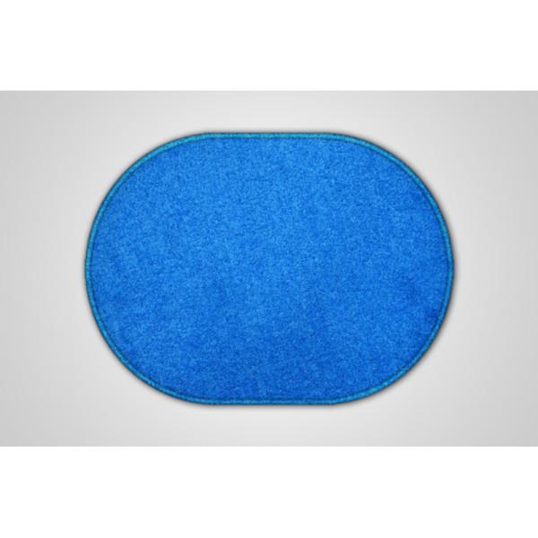 Vopi koberce Kusový modrý koberec Eton ovál, koberců 57x120 cm Modrá - Vrácení do 1 roku ZDARMA