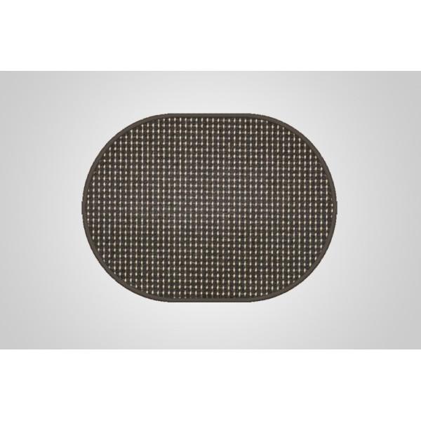 Vopi koberce Kusový koberec Birmingham antra ovál, koberců 200x300 cm Černá - Vrácení do 1 roku ZDARMA
