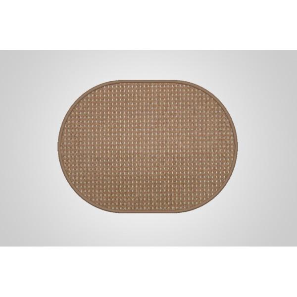Vopi koberce Kusový koberec Birmingham hnědý ovál, kusových koberců 50x80 cm% Hnědá - Vráce