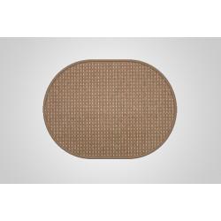 Kusový koberec Birmingham hnědý ovál