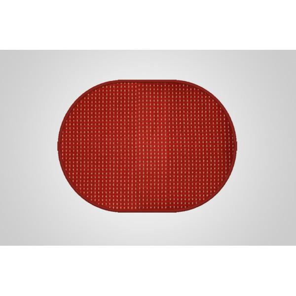 Vopi koberce Kusový koberec Birmingham vínový ovál, koberců 200x300 cm Červená - Vrácení do 1 roku ZDARMA
