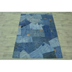 Ručně vyrobený kusový koberec Indie Jeans