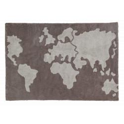 Ručně tkaný kusový koberec World Map