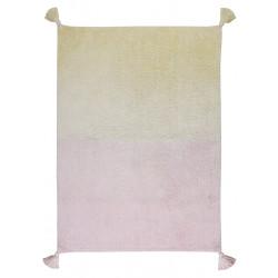 Ručně tkaný kusový koberec Ombré Vanilla - Soft Pink