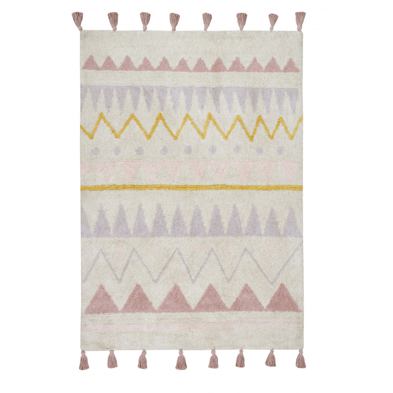 Bio koberec kusový, ručně tkaný Azteca Natural-Vintage Nude
