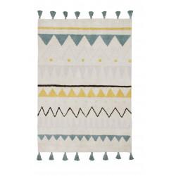 Ručně tkaný kusový koberec Azteca Natural-Vintage Blue