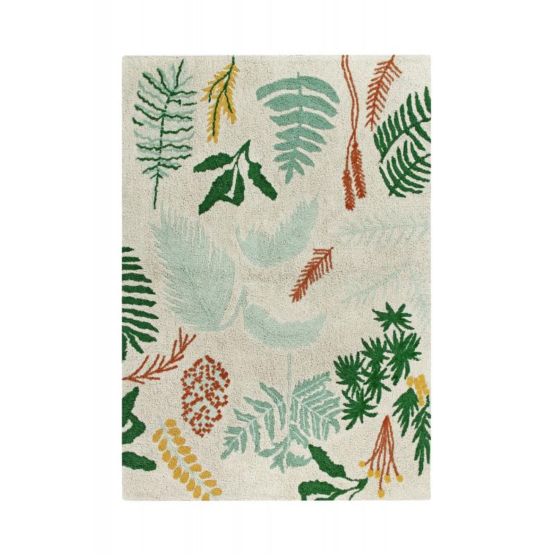 Bio koberec kusový, ručně tkaný Botanic Plants