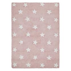 Ručně tkaný kusový koberec Stars Pink-White