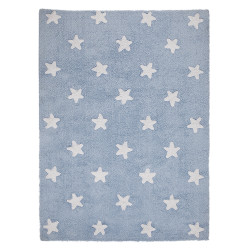 Ručně tkaný kusový koberec Stars Blue-White