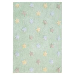 Ručně tkaný kusový koberec Tricolor Stars Soft Mint