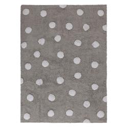 Ručně tkaný kusový koberec Polka Dots Grey-White