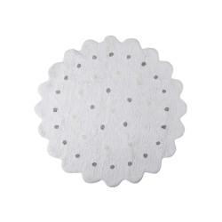 Ručně tkaný kusový koberec Little Biscuit White