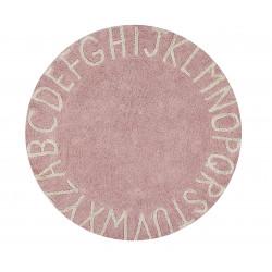 Ručně tkaný kusový koberec Round ABC Vintage Nude-Natural