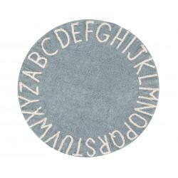 Ručně tkaný kusový koberec Round ABC Vintage Blue-Natural