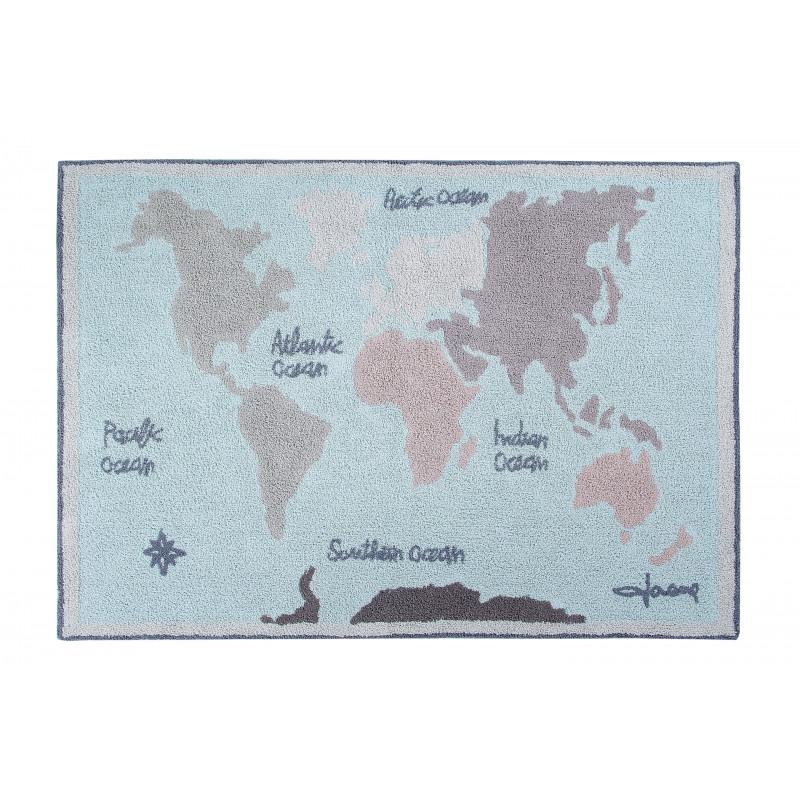 Bio koberec kusový, ručně tkaný Vintage Map