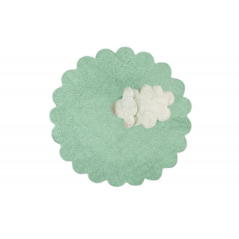 Bio koberec kusový, ručně tkaný Puffy Sheep