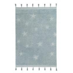 Ručně tkaný kusový koberec Hippy Stars Aqua Blue