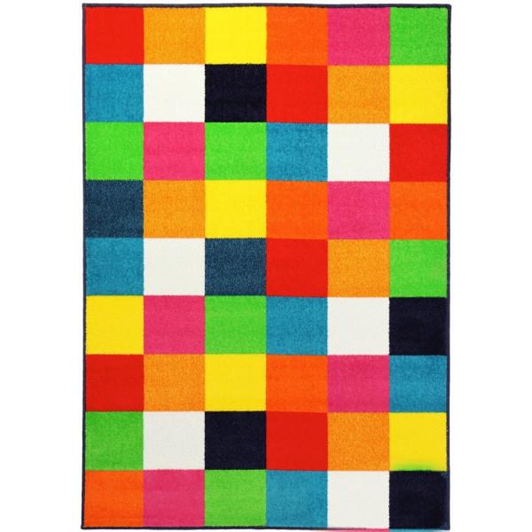Sintelon koberce Kusový koberec City 08 VRP, kusových koberců 80x250% Žlutá, Červená, Modrá - Vrácení do 1 roku ZDARMA vč. dopravy