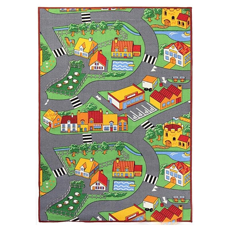 Hrací koberec pro děti silnice Little Village