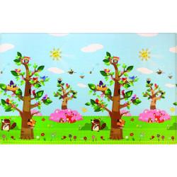 Oboustranný protiskluzový koberec Ptáci v korunách stromů