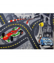 Dětský metrážový koberec The World of Cars 97 šedý