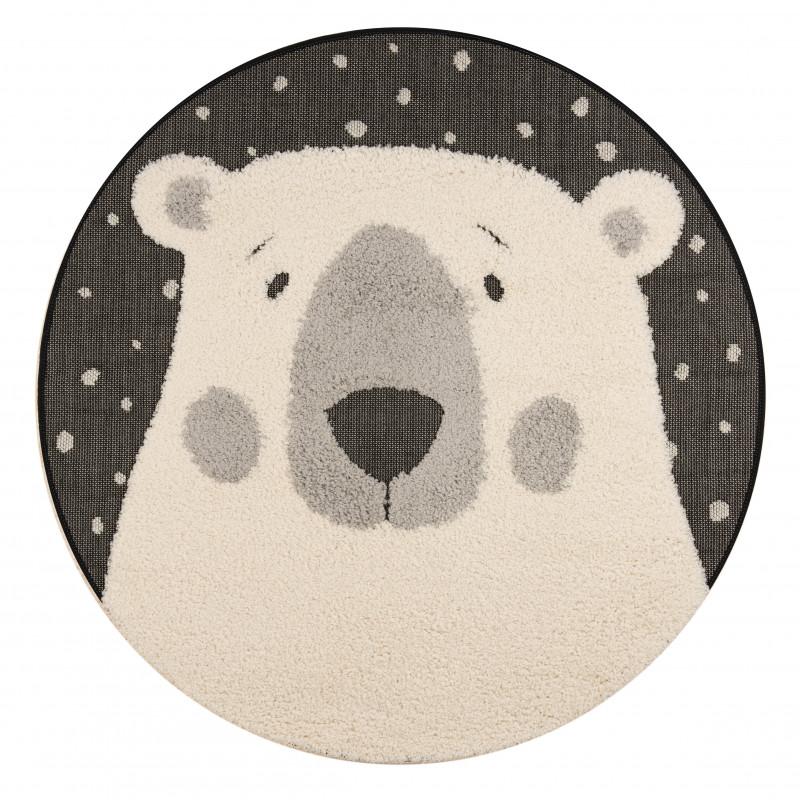 Dětský kusový koberec Vini 103917 Black Cream