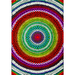 Kusový koberec Relief 22844-110 Multicolor