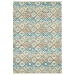 Kusový koberec Kunar 103956 Blue/Brown/Beige