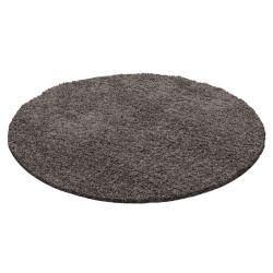 Kusový koberec Dream Shaggy 4000 taupe kruh