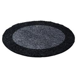 Kusový koberec Life Shaggy 1503 anthracit kruh