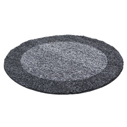 Kusový koberec Life Shaggy 1503 grey kruh