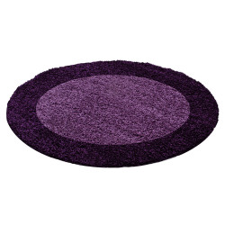 Kusový koberec Life Shaggy 1503 lila kruh