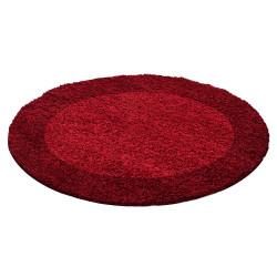 Kusový koberec Life Shaggy 1503 red kruh