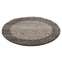 Kusový koberec Life Shaggy 1503 taupe kruh