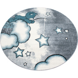 Kusový koberec Kids 580 blue kruh