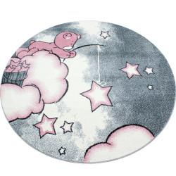 Kusový koberec Kids 580 pink kruh