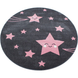 Kusový koberec Kids 610 pink kruh