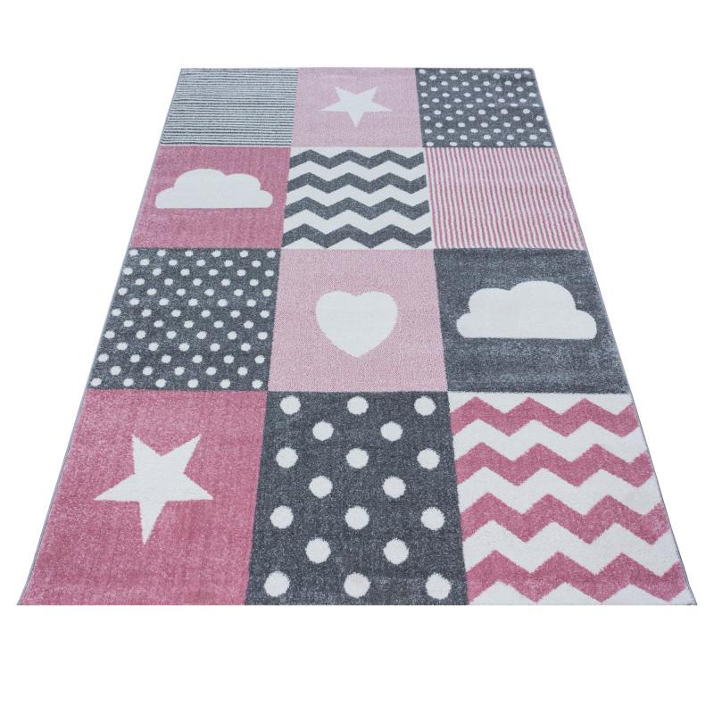 Dětský kusový koberec Kids 620 pink