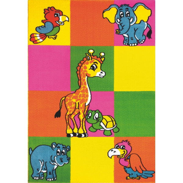 Spoltex koberce Liberec Kusový koberec Bambi multicolor, koberců 120x170 cm Žlutá - Vrácení do 1 roku ZDARMA
