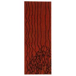 Protiskluzový běhoun Viva 104043 Red/Brown z kolekce Elle